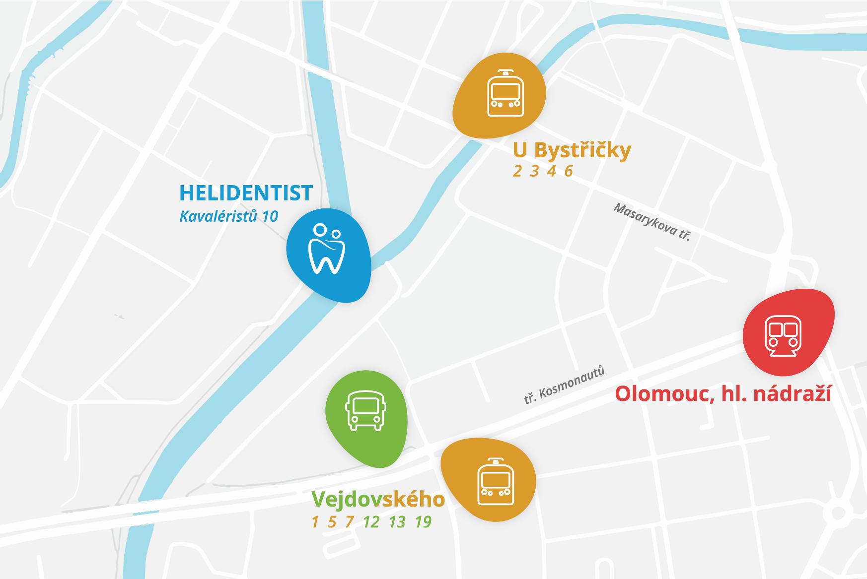 Mapa - Helidentist